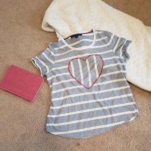 Tommy Hilfiger Womens Heart Tshirt